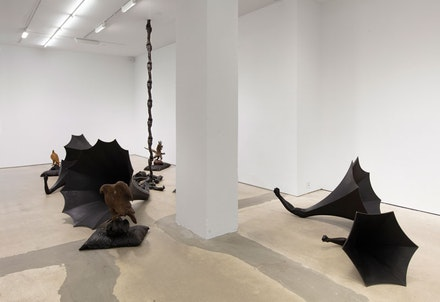 Nick Cave, <em>If a Tree Falls</em>, 2018, installation view, Jack Shainman, New York. Courtesy Jack Shainman.