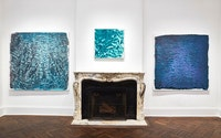 Vicky Colombet, installation view of <em>Water and Light Series #1402</em>, 2018, <em>Antarctica Series #1378</em>, 2017 and <em>Monet Series #1395</em>, 2018.