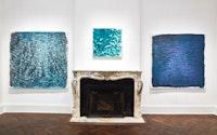 Vicky Colombet, installation view of <em>Water and Light Series #1402</em>, 2018, <em>Antarctica Series #1378</em>, 2017 and <em>Monet Series #1395</em>, 2018.