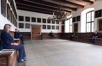 <p>ErnestoPujol:<em>The Listeners</em></p> <p>OsnabrückTown Hall, Germany, 2018</p> <p>[Photo by AngelavonBrill.]</p>