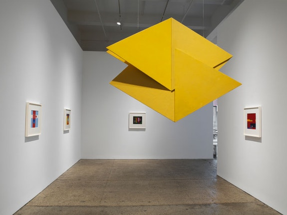 Installation view of <em>Hélio Oiticica: Spatial Relief and Drawings 1955 – 59</em>, Galerie Lelong, 2018. Courtey Galerie Lelong, New York.