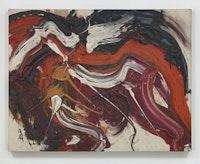 Kazuo Shiraga,<em> Kaku Rou (Threatening Wolf)</em>, 1963. Oil paint on canvas. 91.4 x 116.8 x 3.2 cm / 36 x 46 x 1 1/4 in. © Kazuo Shiraga. Photo: Genevieve Hanson.