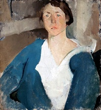 "Edwin Dickinson, Elizabeth Finney, 1915. Oil on canvas, 26 x 24"", Private Collection"