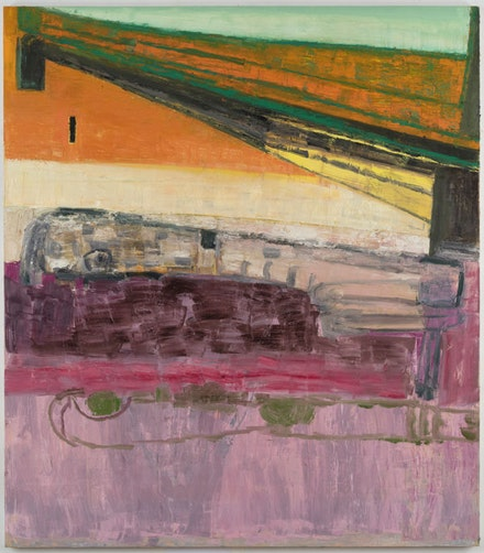 Amy Sillman, <em>Lift & Separate</em>, 2017–18. Oil on canvas, 75 x 66 inches.   © Amy Sillman Courtesy the artist. Photo: John Berens