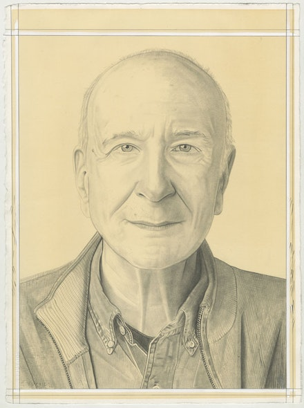 Portrait of Mark Rosenthal, pencil on paper by Phong Bui.