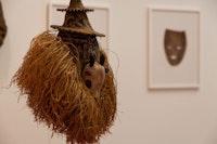 Installation view, Brendan Fernandes: <em>The Living Mask</em>, DePaul Art Museum. Courtesy DePaul Art Museum. Photo: Elyse Bluestone.