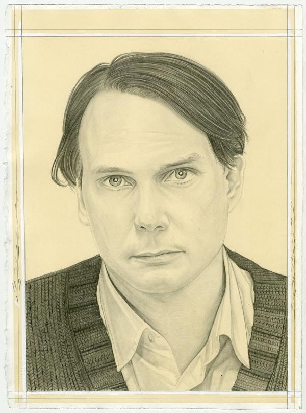 Portrait of Gregor Hildebrandt, pencil on paper by Phong Bui.