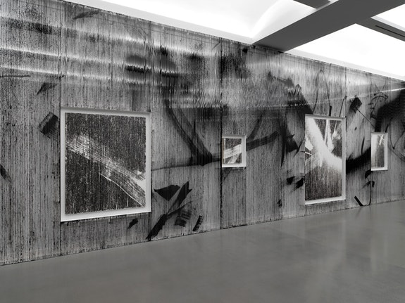 Installation view of Gregor Hildebrant: <em>In meiner Wohnung gibt es viele Zimmer</em>. Photo by Dario Lasagni. Courtesy of the artist and Perrotin.