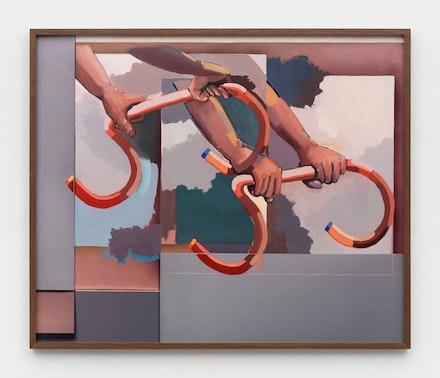 John Houck, <em>Unstable Figure</em>, 2018. Archival pigment print, framed: 31 5/8 x 37 1/2 inches. Courtesy the artist and Marianne Boesky Gallery, New York and Aspen. © John Houck. Photo: Object Studies.