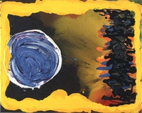 "Jules Olitski, ""Revelation: Blue and Yellow,"", 2006. Courtesy of Paul Kasmin Gallery."