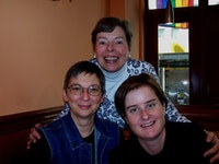 Linda S. Chapman, Ann Bannon and Kate Moira Ryan. Photo by Inga Holmquist.