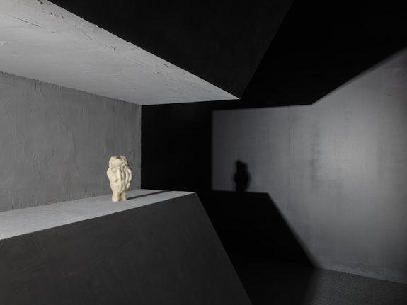 Marguerite Humeau, <em>Birth Canal</em>, 2018. Installation view, New Museum, New York. Photo: Maris Hutchinson / EPW Studio.