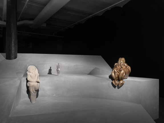 Marguerite Humeau, <em>Birth Canal</em>, 2018. Installation view, New Museum, New York. Photo: Maris Hutchinson / EPW Studio.