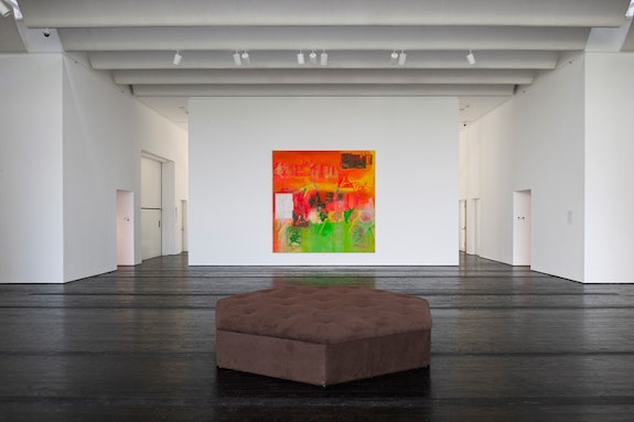 Frank Bowling in the Menil Collection, installation view, 2018. Photo: Paul Hester.