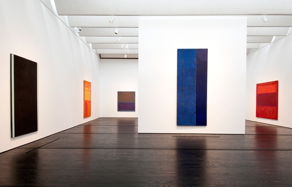 Mark Rothko and Barnett Newman in the Menil Collection, installation view, 2018. Photo: Don Glentzner.