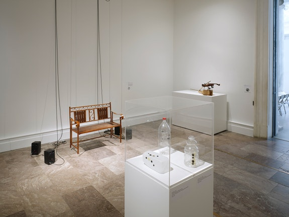 Installation view of <em>Introducing Tony Conrad: A Retrospective </em>(Albright-Knox Art Gallery, March 3–May 27, 2018). © The Estate of Tony Conrad and Greene Naftali, New York. Image courtesy Albright-Knox Art Gallery, Buffalo, New York.  Photo: Biff Henrich.