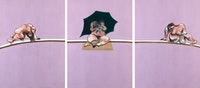 Francis Bacon, <em>Triptych, Studies of the Human Body</em>, 1970. Courtesy Ordovas.