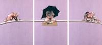 Francis Bacon, <em>Triptych, Studies of the Human Body</em>, 1970. Courtesy Ordovas.