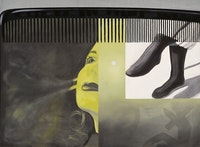James Rosenquist, <em>The Light That Won't Fail I, </em>1961. Oil on canvas, 71 3/4 x 96 1/4 inches. Hirshhorn Museum and Sculpture Garden, Smithsonian Institution, Washington, DC; Gift of the Joseph H. Hirshhorn Foundation, 1966. Photo: Cathy Carver. © Estate of James Rosenquist / Licensed by VAGA at ARS, New York.