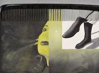 JamesRosenquist,<em>The Light That Won't Fail I,</em>1961. Oil on canvas, 713/4 x 961/4 inches. Hirshhorn Museum and Sculpture Garden, Smithsonian Institution, Washington, DC; Gift of the Joseph H. Hirshhorn Foundation, 1966. Photo: Cathy Carver. © Estate of JamesRosenquist/ Licensed by VAGA at ARS, New York.