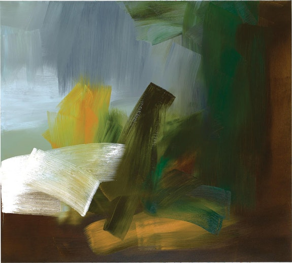 Elise Ansel, <em>Rembrandt's Book</em>, 2018. Oil on linen, 54 x 60 inches. Courtesy Danese Corey. Photo: Luc Demers.
