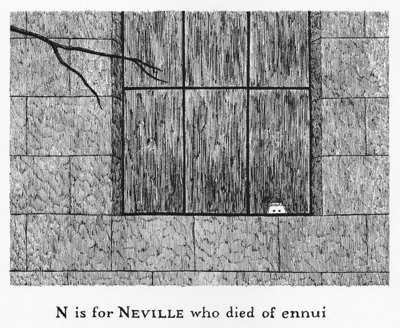 &ldquo;It joined them at breakfast and presently ate- All the syrup and toast, and a part of a plate.&rdquo; Edward Gorey, <em>The Doubtful Guest</em>. (Doubleday, 1957) Used with Permission of Little, Brown and Company