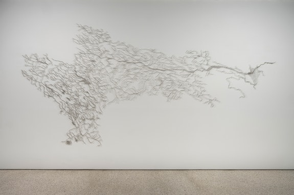 Maya Lin, <em>Pin River - Hudson Watershed</em>, 2018. Stainless steel pins. Courtesy the artist. Photo: Kris Graves.