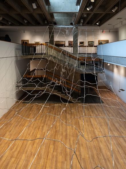 Maya Lin, <em>The Hudson Bight</em>(detail), 2018. Aluminum. Courtesy the artist. Photo: Kris Graves.