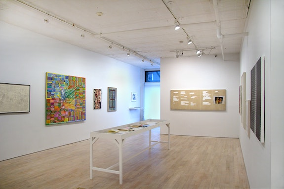 Installation view of <em>Under Erasure</em>, Pierogi Gallery, 2018. Courtesy Pierogi Gallery.