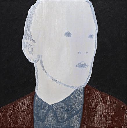Max Neumann, <em>Untitled, May</em>, 2018. Oil on wood, 15 5/8 x 15 5/8 inches. Courtesy Bruce Silverstein Gallery.