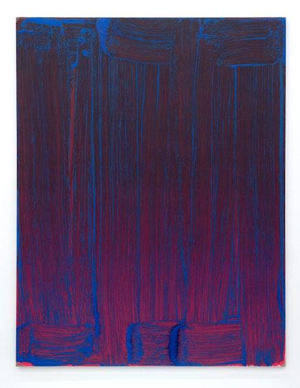 Robert Janitz, <em>Pitch and Copper</em>, 2018. Oil, wax, flour on linen, 86 x 66 inches.  Courtesy the artist and CANADA. Photo: Joe DeNardo