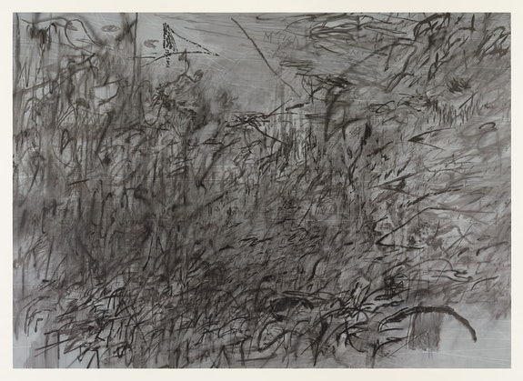 <p>Julie Mehretu, <em>Invisible Sun (algorithm 7, spell form)</em>, 2015. Ink and acrylic on canvas, 119.5 x 167 inches. Photo: Tom Powel. Courtesy the artist and Marian Goodman Gallery, New York. © Julie Mehretu.</p>