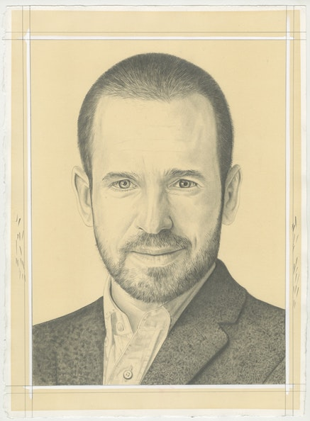 Portrait of Daniel S. Palmer, pencil on paper by Phong Bui.