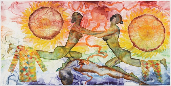 <p>Francesco Clemente,<em> A History of the Heart in Three Rainbows (III)</em>, 2009. Watercolor on paper, 73 1/9 x 149 3/4 inches. Courtesy the artist.</p>