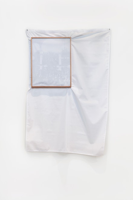 Ivan Grilo, <em>Privilégios</em> [Privileges], 2017. Print on cotton paper, freijó wood frame and fabric, edition of 3. Photo: Filipe Berndt. Courtesy Casa Triângulo, São Paulo.