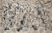 Jackson Pollock, <em>Number 28, 1950</em>, 1950. Enamel on canvas, 68 1/8 x 105 inches. © 2018 The Pollock-Krasner Foundation / Artists Rights Society (ARS), New York.