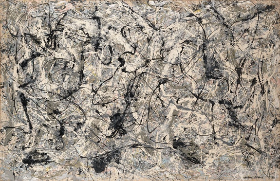 Jackson Pollock, <em>Number 28, 1950</em>, 1950. Enamel on canvas, 68 1/8 x 105 inches. © 2018 The Pollock-Krasner Foundation / Artists Rights Society (ARS), New York.