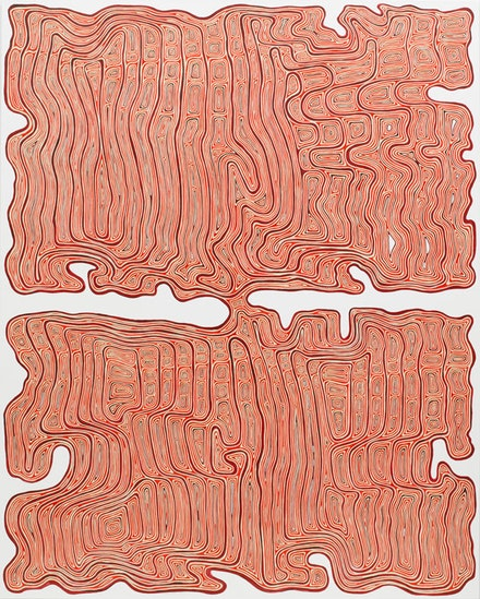 <p>James Siena, <em>Concordulation</em>, 2017. Acrylic on canvas, 75 x 60 inches. © James Siena. Courtesy Pace Gallery.</p>