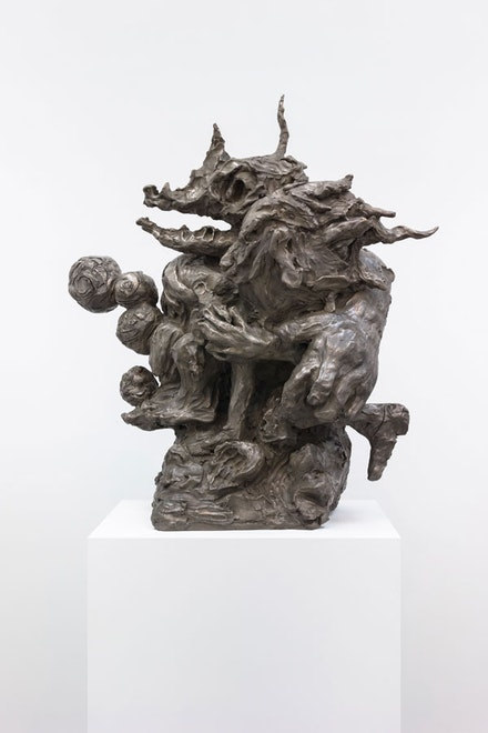 Dana Schutz, <em>Washing Monsters</em>, 2018. Bronze, 45 x 35 x 20 inches. Courtesy the artist and Petzel, New York.