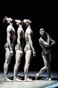<p><em>Sad Case</em> (1998) by NDT's house choreographers Sol León and Paul Lightfoot. Pictured: Paxton Ricketts, Gregory Lau, Spencer Dickhaus, Katarina van den Wouwer. Photo: Rahi Rezvani.</p>