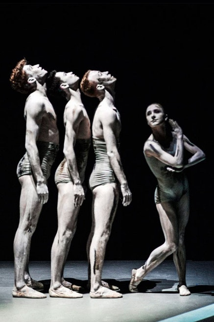<p><em>Sad Case</em> (1998) by NDT&rsquo;s house choreographers Sol Le&oacute;n and Paul Lightfoot. Pictured: Paxton Ricketts, Gregory Lau, Spencer Dickhaus, Katarina van den Wouwer. Photo: Rahi Rezvani.</p>