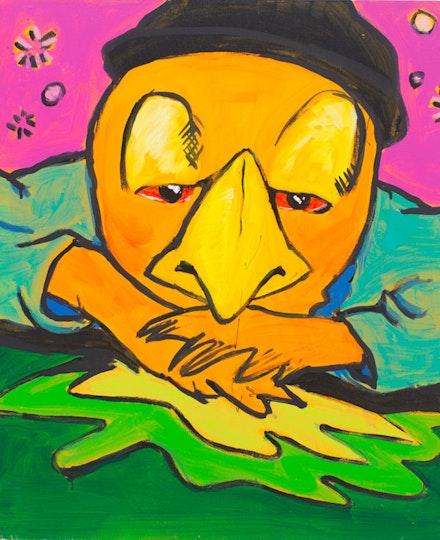 Archie Rand, <em>1A</em>, 2005. Acrylic on canvas, 24 x 20 inches. Courtesy TOTAH.