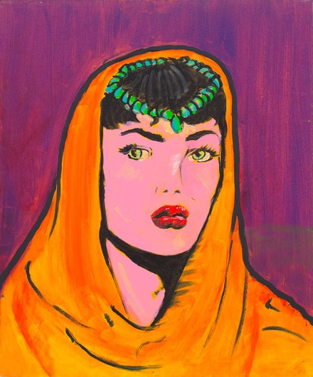 Archie Rand, <em>14A</em>, 2005. Acrylic on canvas, 24 x 20 inches. Courtesy TOTAH.