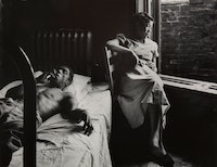 Gordon Parks, <em>Tenement Dwellers, Chicago, 1950. </em>Gelatin silver print, 10 3/4 x 14 inches. © and courtesy The Gordon Parks Foundation.