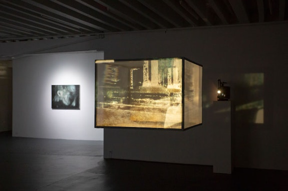 Installation view: <em>Raha Raissnia: Galvanization</em>, Miguel Abreu Gallery, New York, 2019. Courtesy the artist and Miguel Abreu Gallery, New York. Photo: Steven Faught.