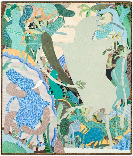 Gladys Nilsson, <em>The Big Green Man</em>, 1972. Courtesy the artist and Garth Greenan Gallery, New York. Photo: Nathan Keay, © MCA Chicago.