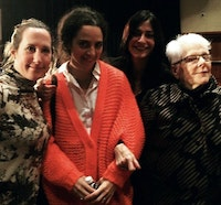 Author (on left) at CAA panel honoring Linda Nochlin (on right).