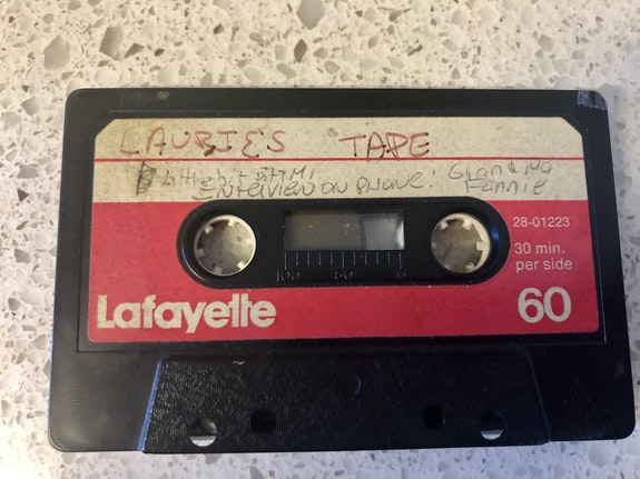 Lost 1978 tape of the author's grandmother Fannie Meiselman, recorded when Laurie was 12.