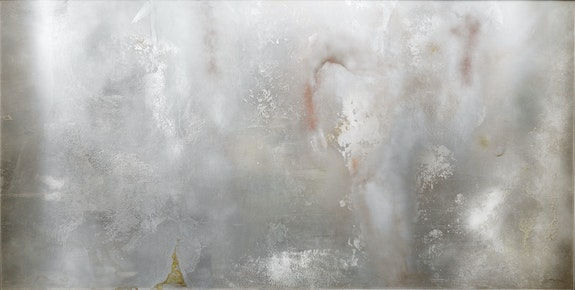 Helène Aylon, <em>First Coral</em>, 1970, Acrylic, Plexiglas on aluminum, 48-1/4 x 96-3/8 inches. Copyright Helène Aylon, courtesy Leslie Tonkonow Artworks + Projects, New York.