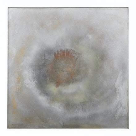 Helène Aylon, <em>Innermost Coral</em>, 1972, Acrylic, Plexiglas on aluminum, 36-3/8 x 36-3/8 inches. Copyright Helène Aylon, courtesy Leslie Tonkonow Artworks + Projects, New York